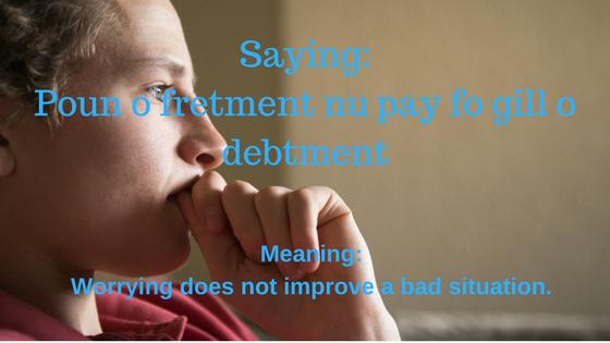 Poun o fretment nu pay fo gill o debtment